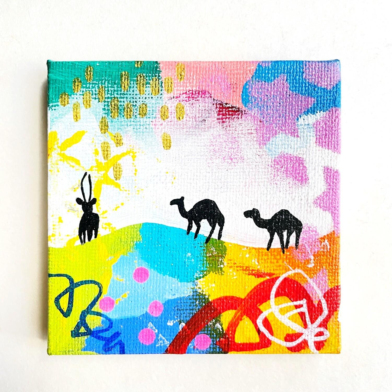 Mini Camels and Oryx black