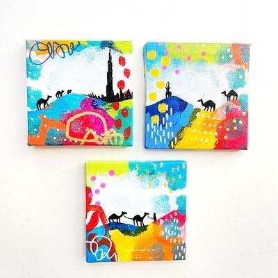 Mini Desert Paintings trio