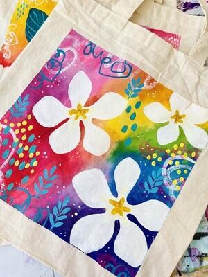 Frangipani Flowers Tote