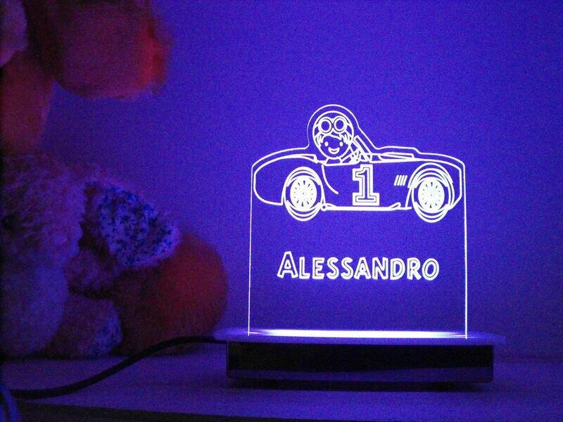 1st Birthday Race Car Driver Night Light