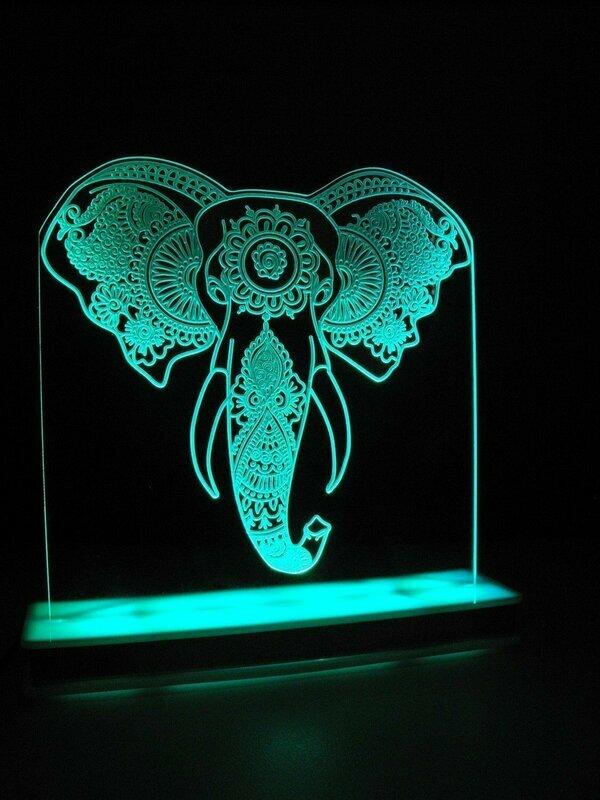 African Elephant Designer Light