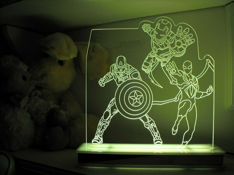 Avengers with ultimate Spiderman Designer Light