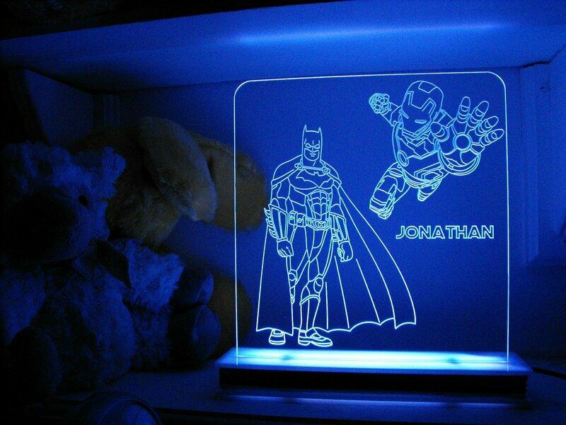 Batman and Ironman Designer Light