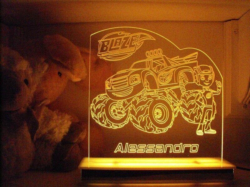 Blaze Monster Truck Designer Light