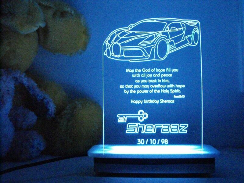 Bugatti Divo 21st Key Night Light