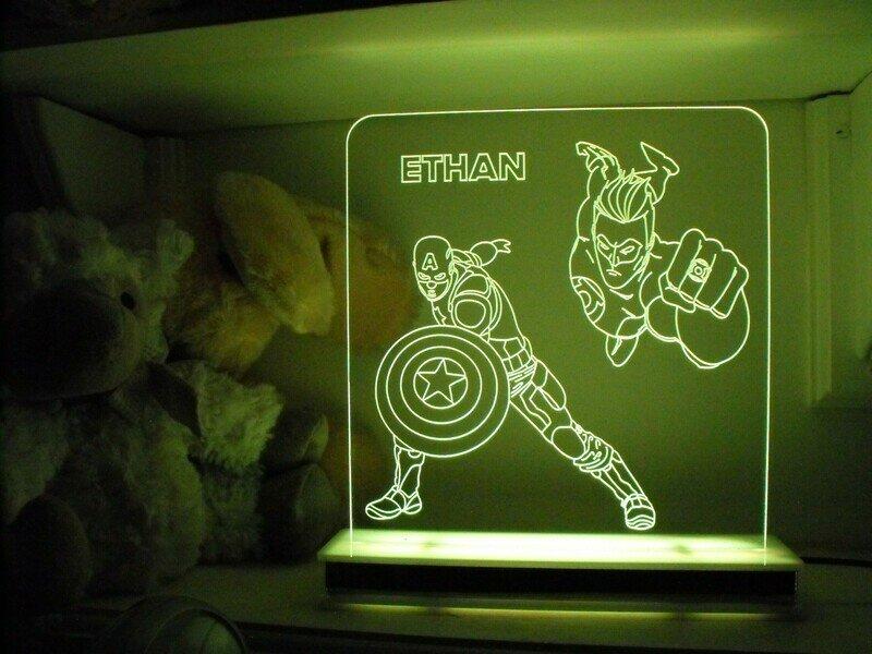 Captain America and Green Lantern Designer Light