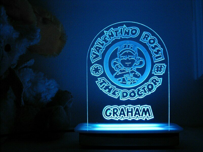 For Rossi the Doctor Fans Night Light
