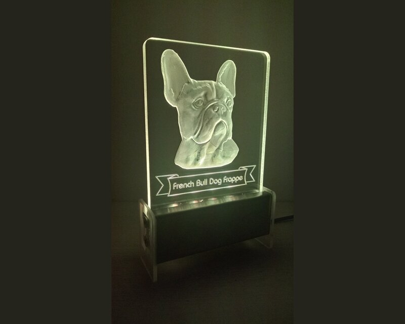 French Bull Dog QT 3D Light