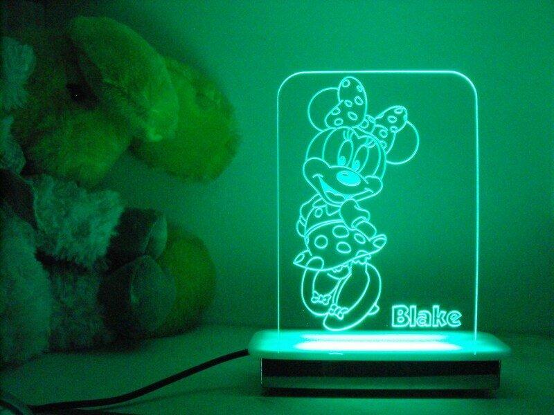 Happy Minnie Mouse Night Light