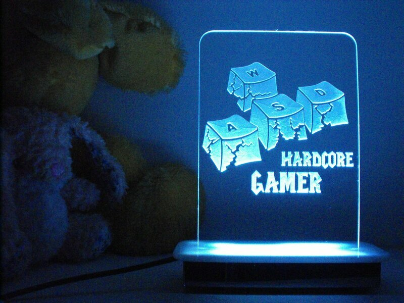 Hardcore Gamer Night Light