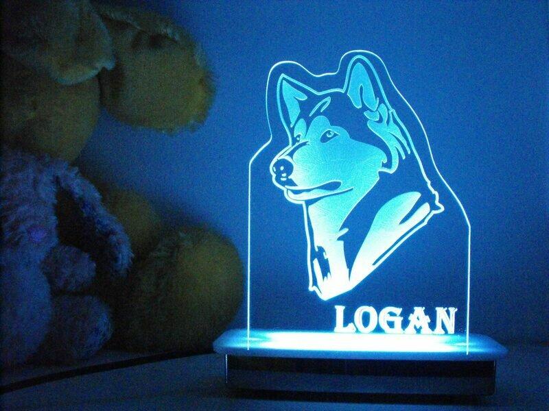Luke the Husky Dog Night Light