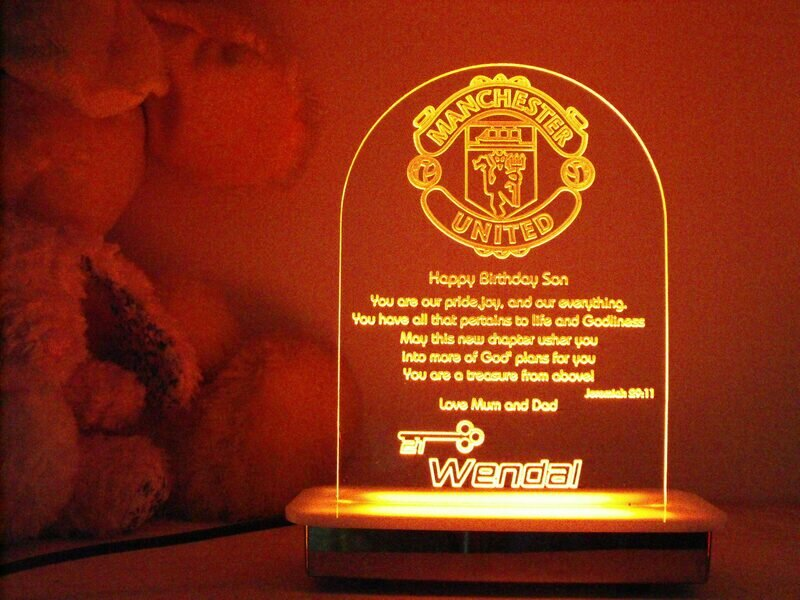 Manchester United 21st Key Night Light