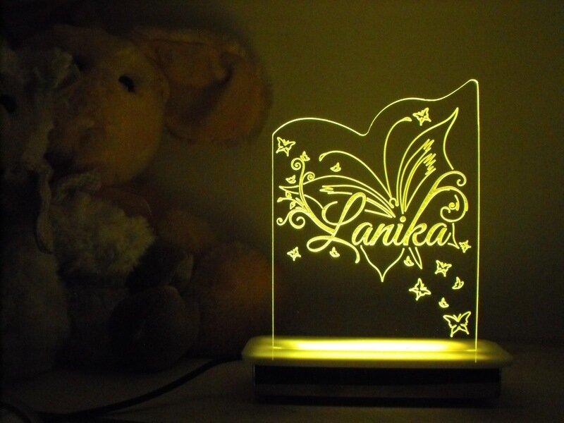Named Butterfly Night Light