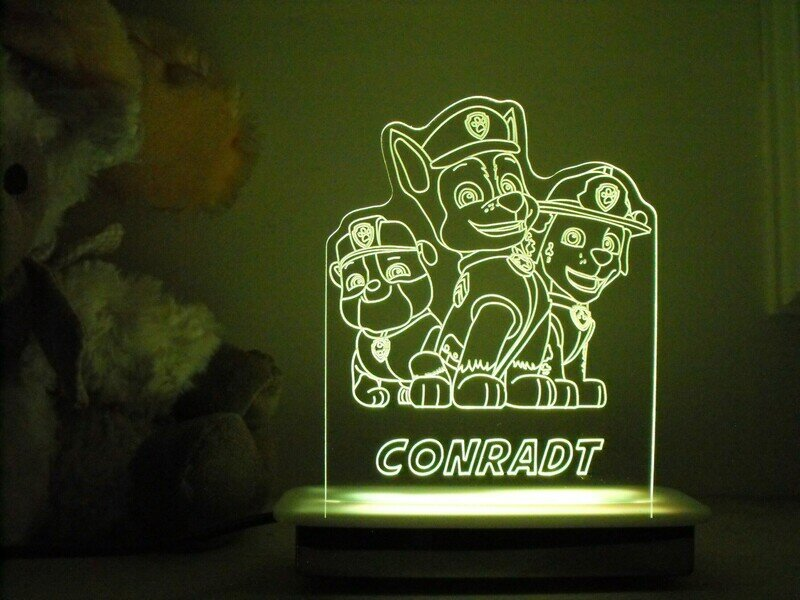 Paw Patrol Squad of 3 Night Light