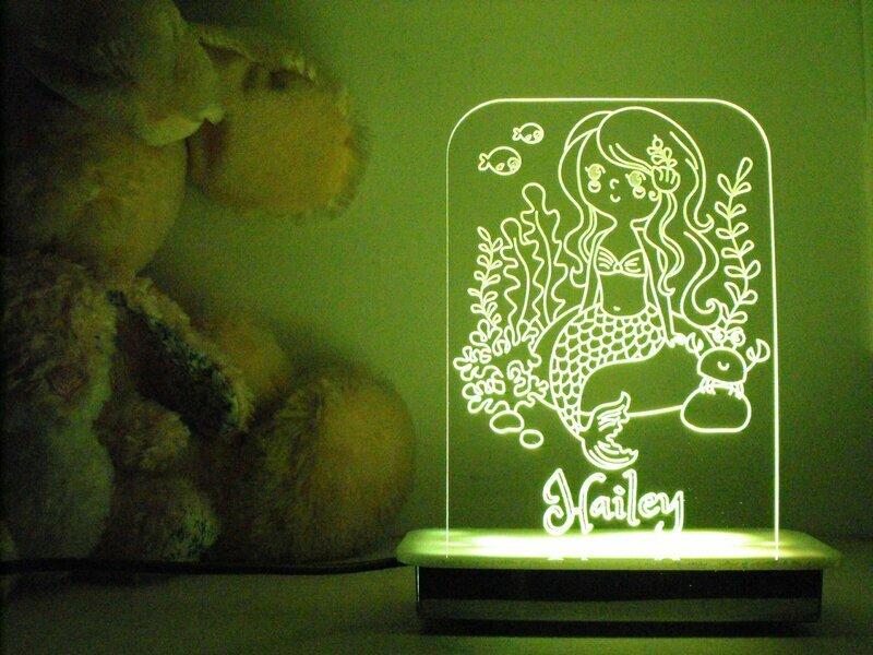 Pebble the Mermaid Night Light