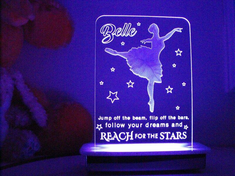 Reach the Stars Ballerina Night Light