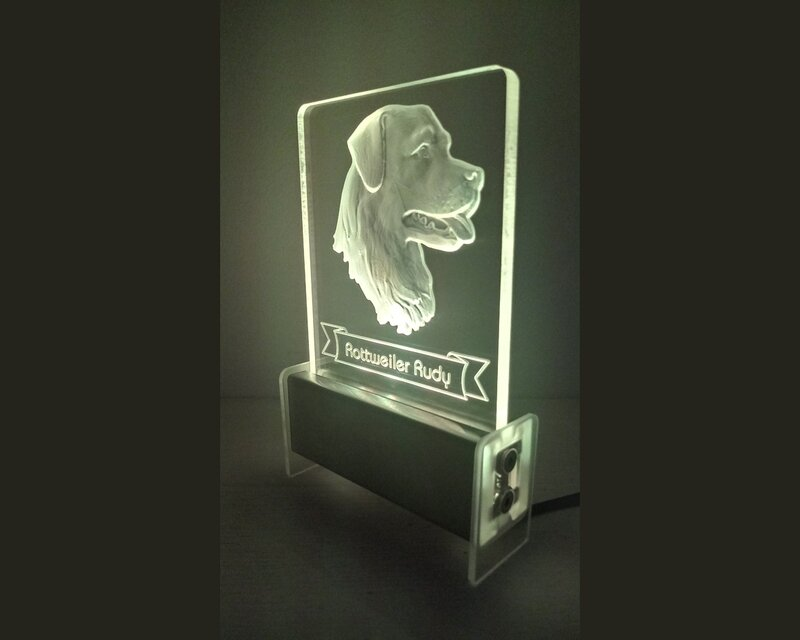 Rottweiler Dog QT 3D Light