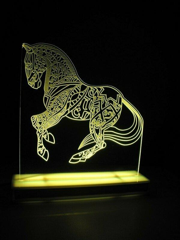 Stallion Horse Designer Light
