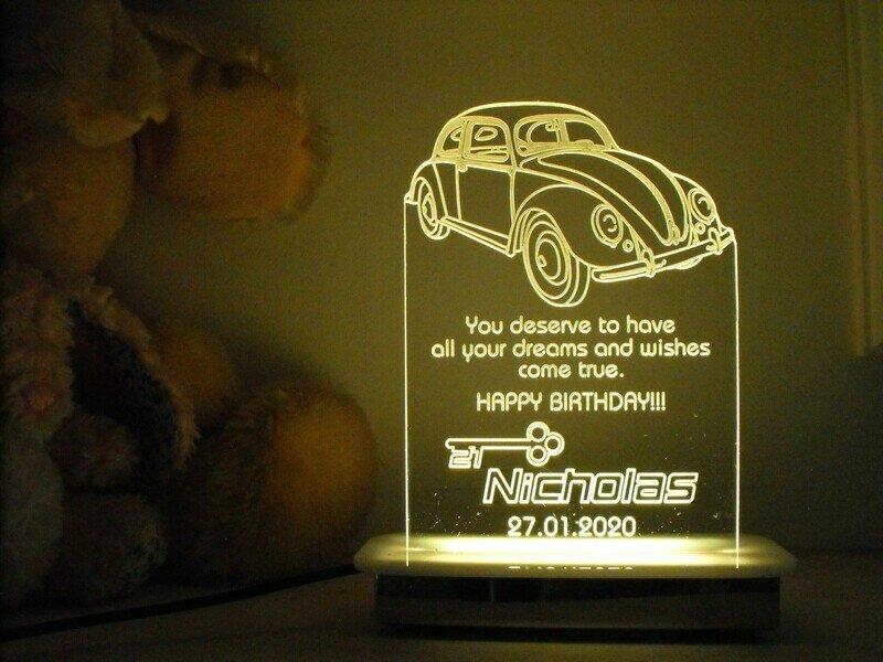 VW Beetle 21st Key Night Light