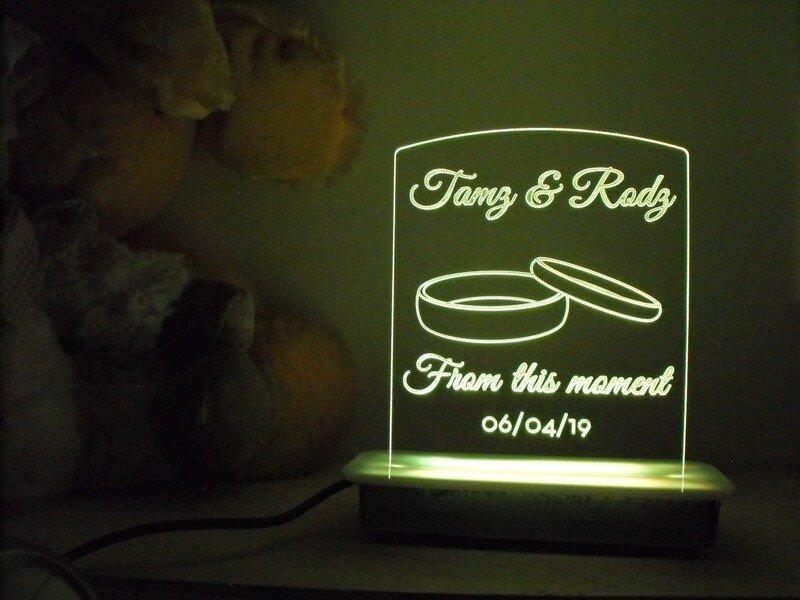 Wedding Anniversary Night Light