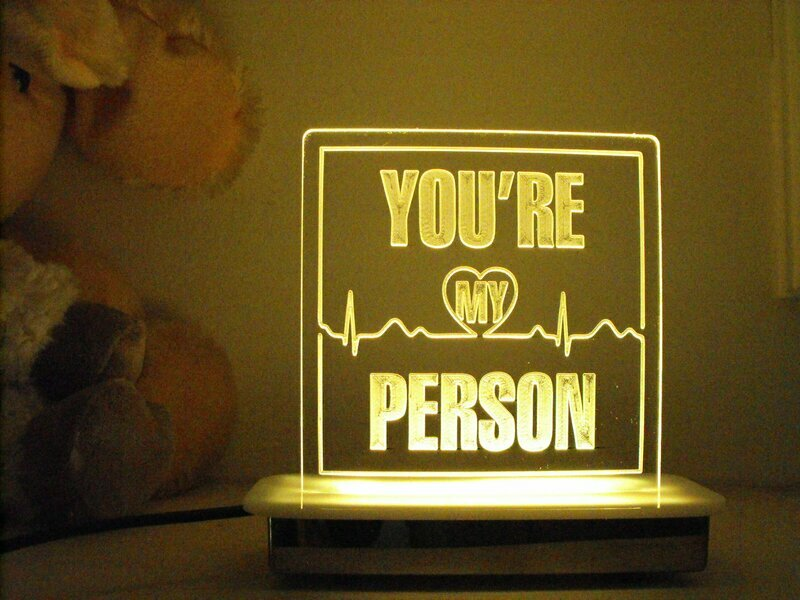 You are My Person Night Light