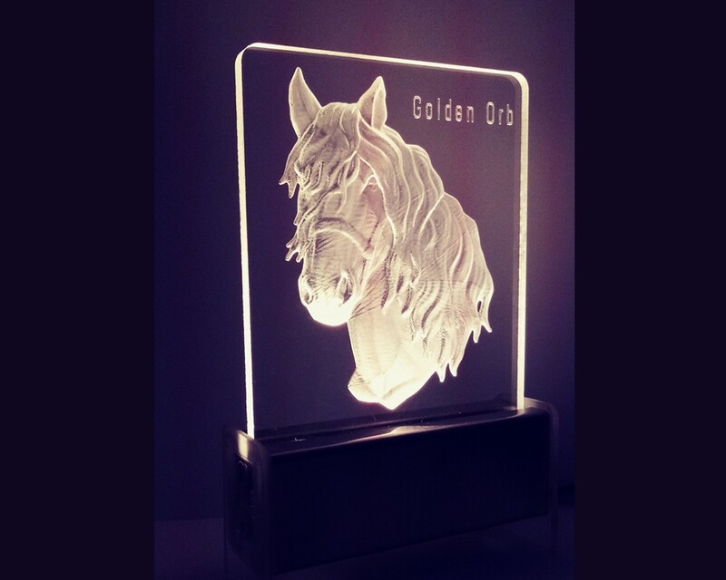 Golden Biscuit Horse QT 3D Light
