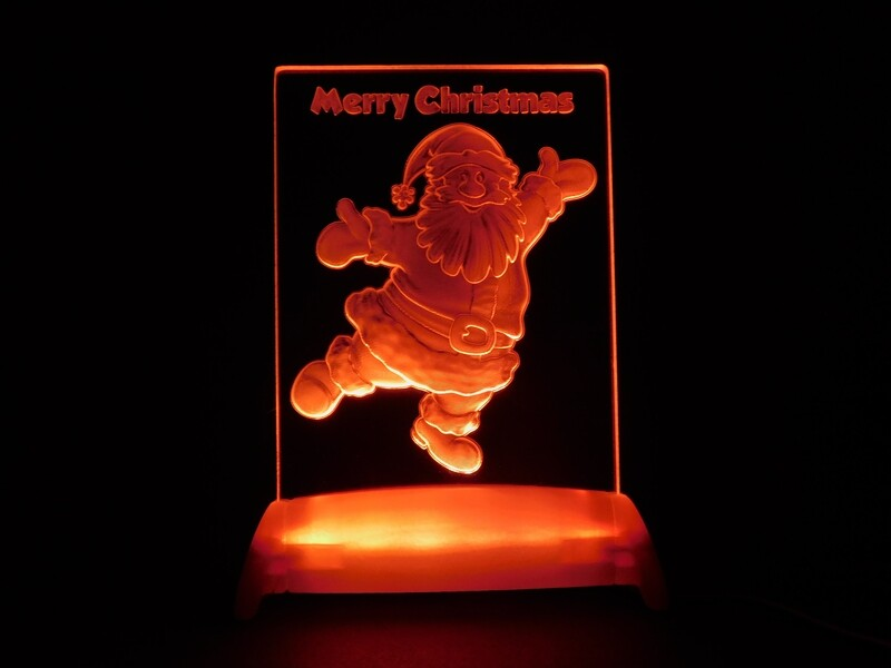 Christmas Santa Claus QT 3D Light