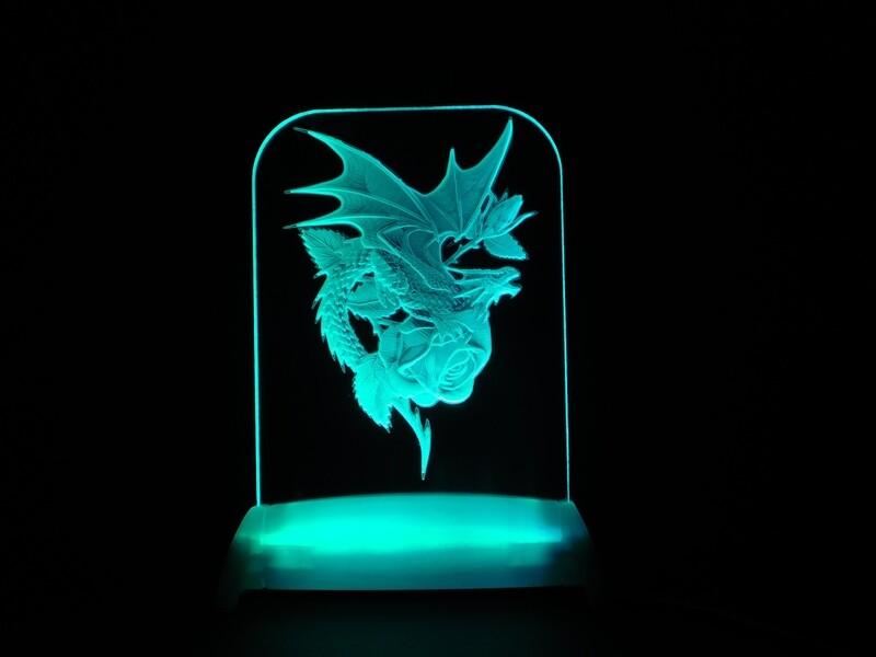 Dragon Rose QT 3D Light