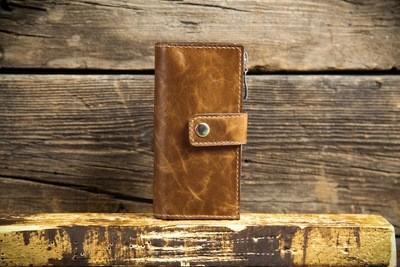 Коричневый кошелёк из натуральной кожи