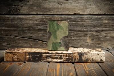 Милитари обложка на паспорт из сыромятной кожи