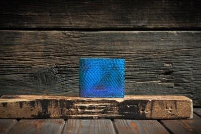 Голубой кошелёк из кожи питона