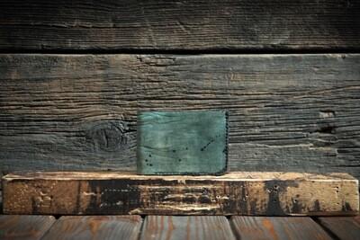 Бирюзовый кошелёк из натуральной кожи