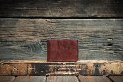 Коралловый кошелёк из натуральной кожи