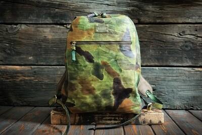 Рюкзак милитари из сыромятной кожи