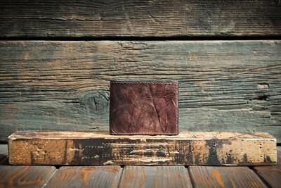 Кошелёк каштанового цвета из сыромятной кожи