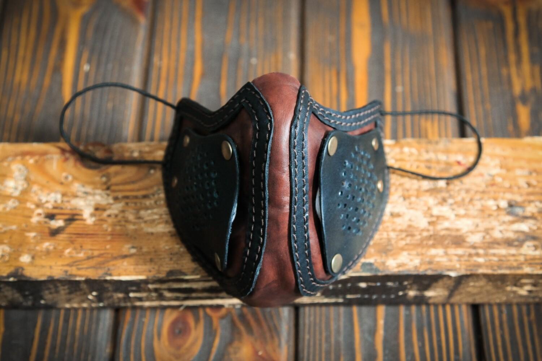 Защитная маска из натуральной кожи