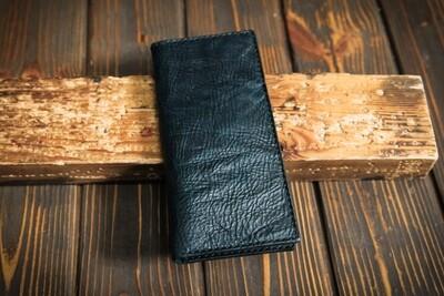 Тёмно-зелёный кошелёк из состаренной кожи