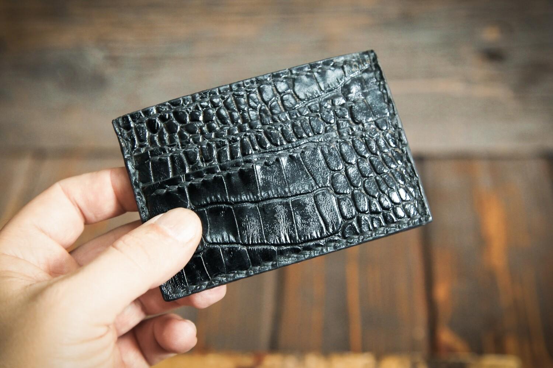 Черный картхолдер для пластиковых карт