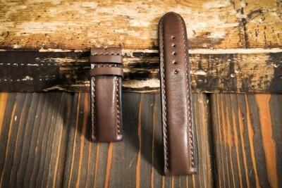 Коричневый кожаный ремешок для часов 22 мм