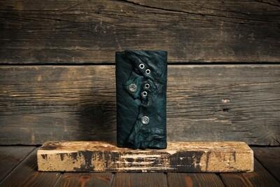 Зелёный кошелёк из состаренной кожи