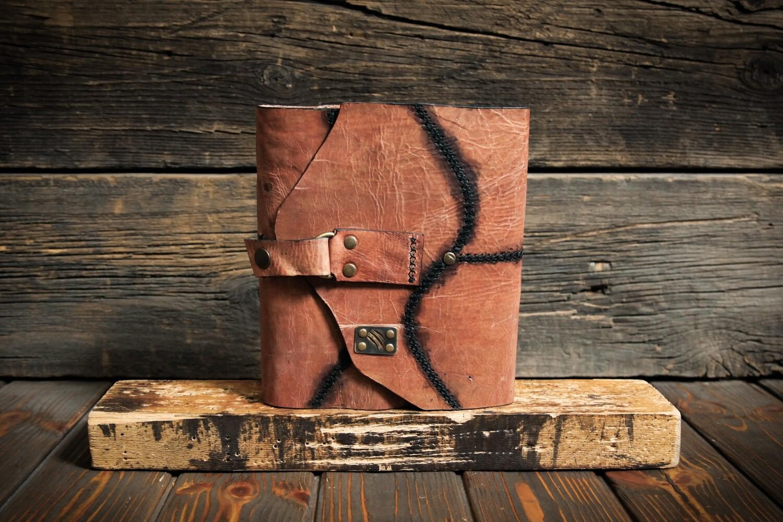 Блокнот А5 бронзового цвета из состаренной кожи
