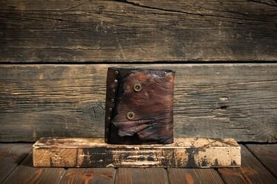 Блокнот А6 кофейного цвета из состаренной кожи