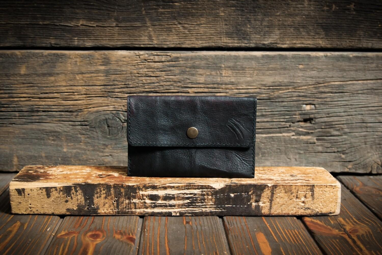 Черно-коричневый чехол для купюр и документов