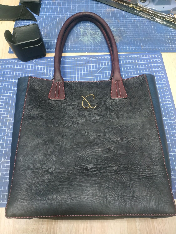 Товар на заказ: доплата за сумку шоппер из натуральной состаренной кожи (на заказ)