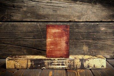 Красная обложка на паспорт из сыромятной кожи