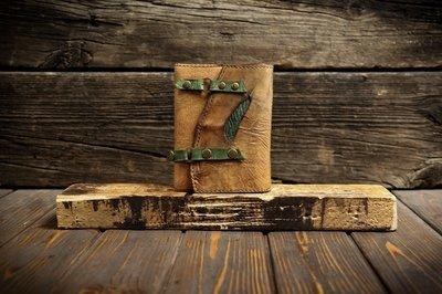 Ежедневник А6 в обложке из сыромятной кожи
