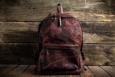 Рюкзак из сыромятной кожи