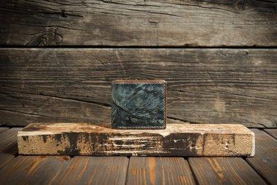 Сине-зелёный кошелёк из сыромятной кожи