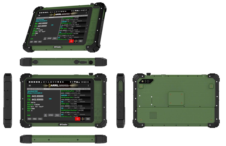 "RFinder Android Radio P10 136-174mhz, 400-470mhz DMR/FM 10"" Hardened tablet **4th Gen. ***PREORDER/PRERELEASE FOR EVALUATION"