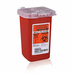 CONTAINER, SHARPS RED 1QT